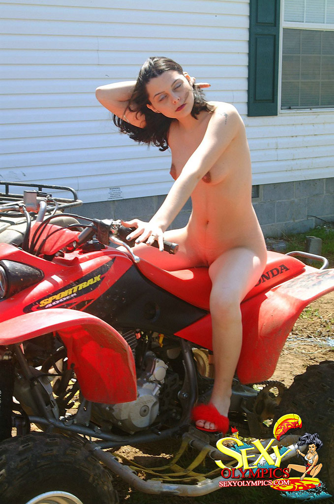 Simply magnificent Naked women with atv